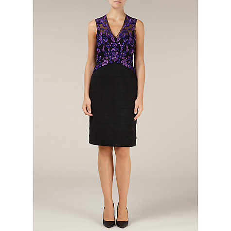 Buy Alexon Lace Ottoman Dress, Purple Online at johnlewis.com