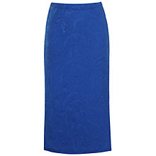 Buy True Decadence 3D Slim-Fit Midi Skirt, Blue Online at johnlewis.com