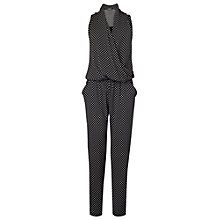 Buy Phase Eight Lulu Geo Jumpsuit, Black/Ivory Online at johnlewis.com