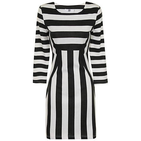 Buy True Decadence Stripe Bodycon Dress, Black/White Online at johnlewis.com