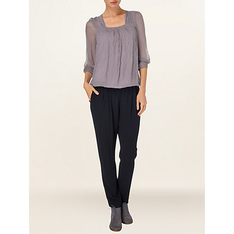 Buy Phase Eight Made in Italy Saskia Blouse, Mole Online at johnlewis.com