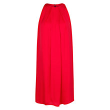 Buy Mango Flowing Satin Finish Dress, Red Online at johnlewis.com