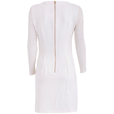 Buy Almari Lace Sleeve Dress, Ivory Online at johnlewis.com