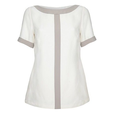 Buy allegra By Allegra Hicks Leah Top, Cream Online at johnlewis.com