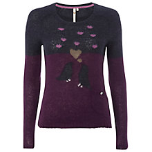 Buy White Stuff Birdy Jumper, Dark Sky Blue Online at johnlewis.com