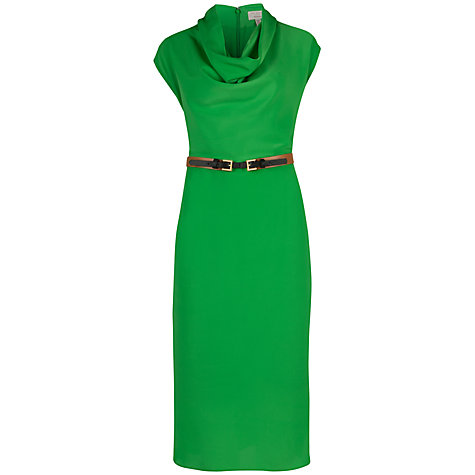 Buy Ted Baker Bigua Cowl Neck Dress, Green Online at johnlewis.com