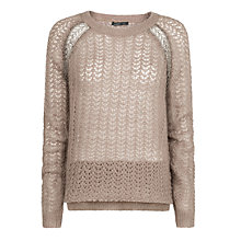 Buy Mango Metallic Detail Sweater, Metallic Online at johnlewis.com