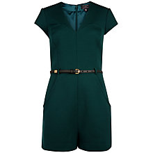 Buy Ted Baker Ellysa Playsuit, Dark Green Online at johnlewis.com