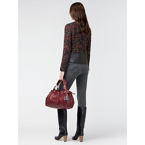 Buy Gérard Darel Tweed Jacket, Red/Grey Online at johnlewis.com