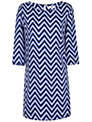 True Decadence Shift Dress, Blue Print