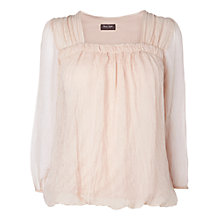 Buy Phase Eight Saskia Blouse, Dusty Pink Online at johnlewis.com