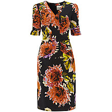 Buy Havren Floral Silk-Mix Dress, Black Combo Online at johnlewis.com