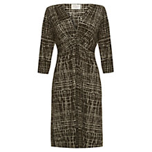Buy allegra by Allegra Hicks Alexis Dress, Gridwork Khaki Online at johnlewis.com