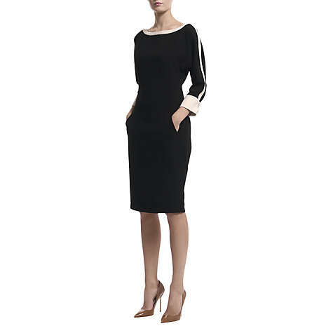 Buy Havren Batwing Shift Dress, Black Online at johnlewis.com