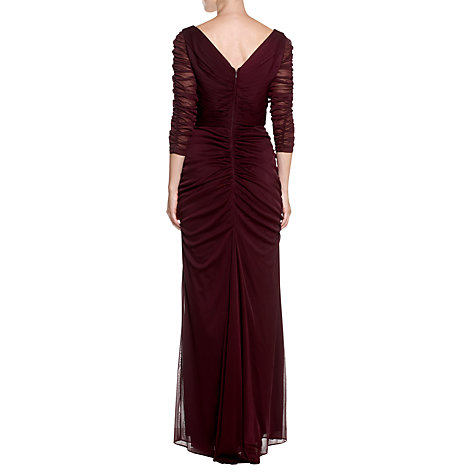 Buy Adrianna Papell Drape Covered Dress, Raisin Online at johnlewis.com