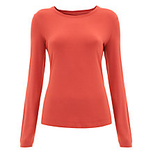 Buy Havren Jersey Top, Orange Online at johnlewis.com