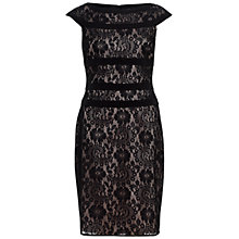 Buy Adrianna Papell Lace Sheath Dress, Black Online at johnlewis.com