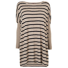 Buy Phase Eight Stripe Catherine Jumper, Wheat/Navy Online at johnlewis.com