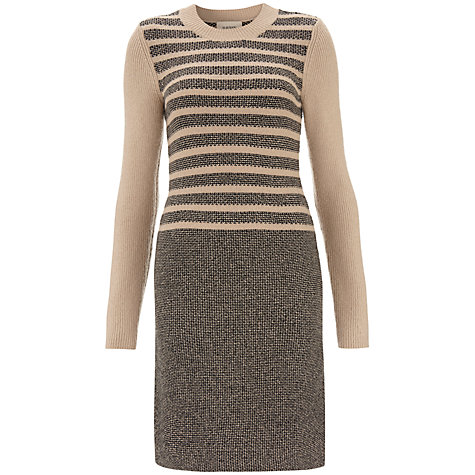 Buy Havren Tweed Dress, Pale Camel/Black Online at johnlewis.com
