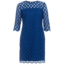 Buy Adrianna Papell Scalloped Dress, Marine Online at johnlewis.com