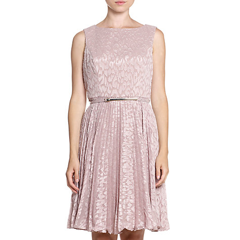 Buy Adrianna Papell Pleated Dress, Powder Pink Online at johnlewis.com