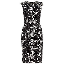Buy Adrianna Papell Metal Chain Dress, Black/White Online at johnlewis.com