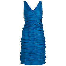 Buy Adrianna Papell Laser Cut Dress, Peacock Online at johnlewis.com