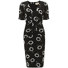 Buy Havren V Neck Ruched Dress, Black Online at johnlewis.com