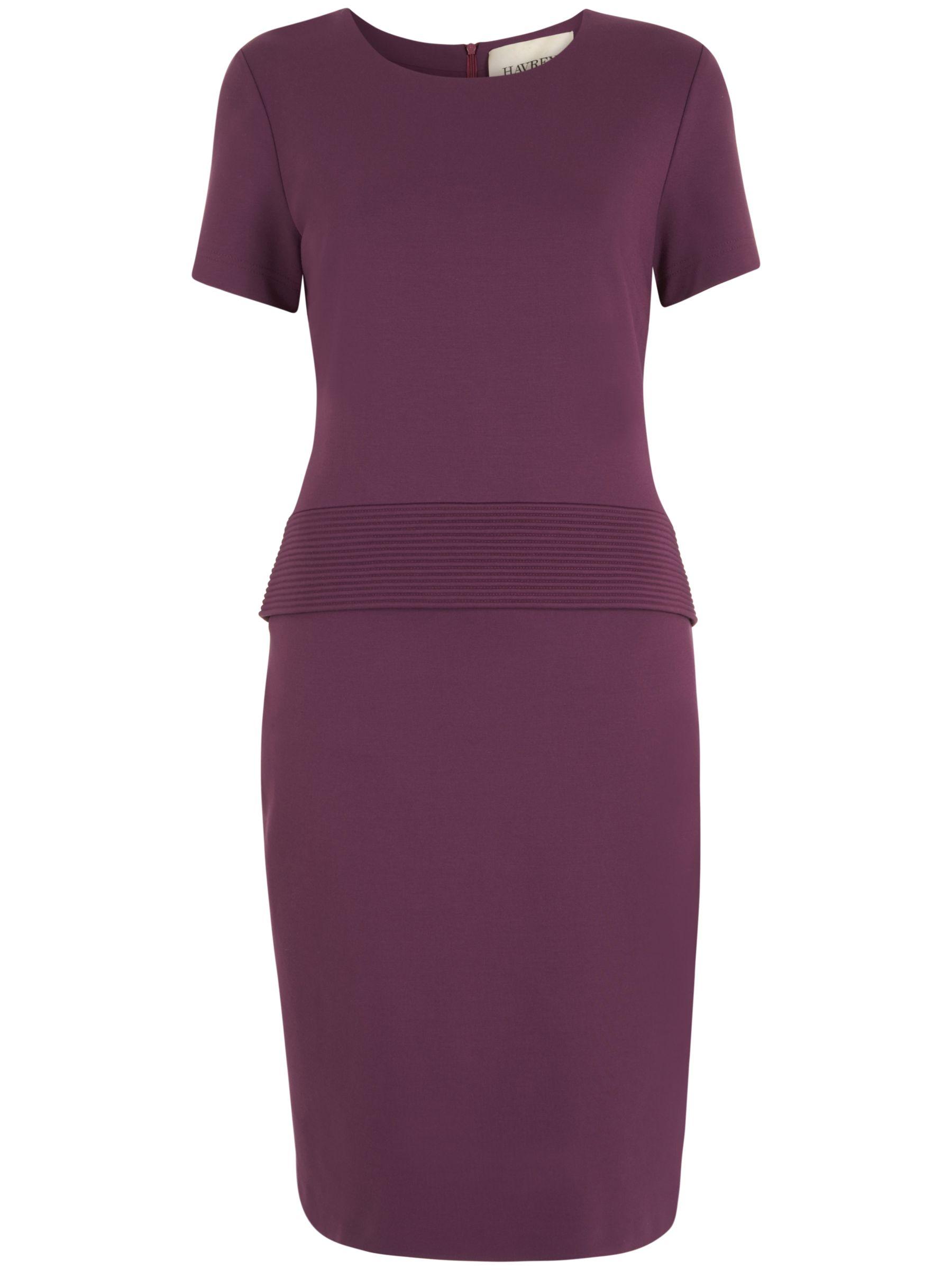 Havren Jersey Peplum Dress, Mauve