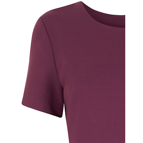 Buy Havren Jersey Peplum Dress, Mauve Online at johnlewis.com