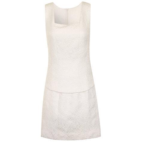 Buy True Decadence Peplum Dress, Cream Online at johnlewis.com
