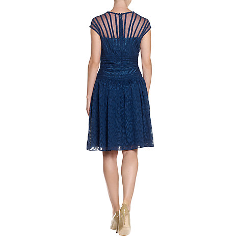 Buy Adrianna Papell Piping Dress, Indigo Blue Online at johnlewis.com