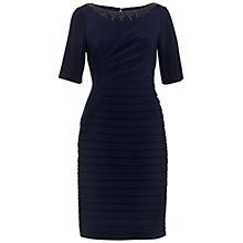 Buy Adrianna Papell Pleat & Band Dress, Eclipse Online at johnlewis.com
