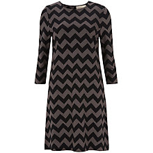 Buy Havren Zig Zag Shift Dress, Black Multi Online at johnlewis.com