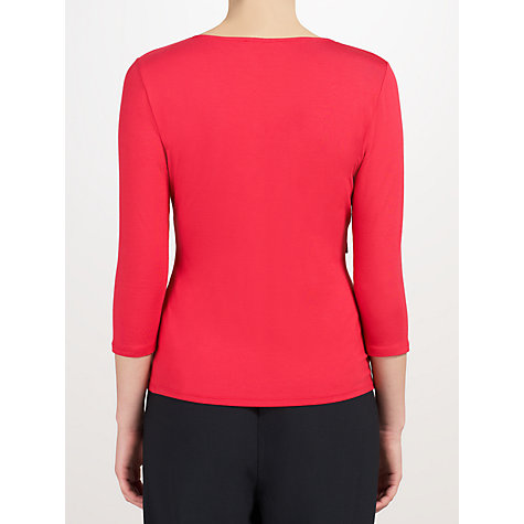 Buy John Lewis Capsule Collection Twist Front Top, Dark Red Online at johnlewis.com