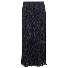 Buy John Lewis Capsule Collection Crinkle Knit Skirt, Navy/Ivory Online at johnlewis.com