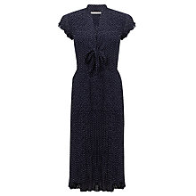 Buy John Lewis Capsule Collection Crinkle Spot Dress, Navy/Ivory Online at johnlewis.com