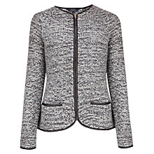 Buy Ted Baker Hanoria Leather Cardigan, Grey Marl Online at johnlewis.com