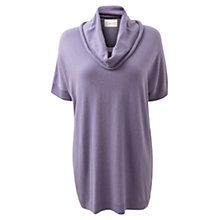 Buy East Short Sleeve Cowl Neck Jumper, Dark Lilac Online at johnlewis.com