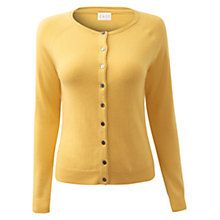 Buy East Crew Neck Cardigan, Yellow Online at johnlewis.com