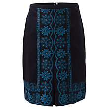Buy East Nia Embroidered Skirt, Navy Online at johnlewis.com