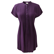 Buy East Pleat Detail Tunic, Plum Online at johnlewis.com