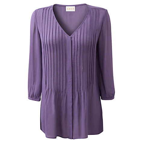 Buy East Pintuck Blouse, Lavender Online at johnlewis.com