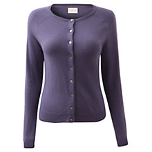 Buy East Crew Neck Cardigan, Dark Lilac Online at johnlewis.com