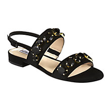 Buy Clarks Studio Punch Sandals, Black Online at johnlewis.com