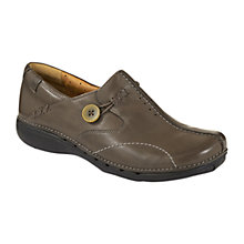 Buy Clarks Unloop Loafers, Grey Online at johnlewis.com