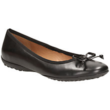 Buy Clarks Arizona Ballet Leather Pump Shoes, Black Online at johnlewis.com