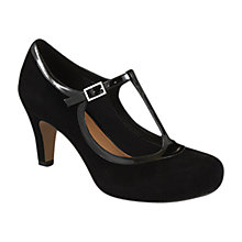 Buy Clarks Chorus Thrill Court Shoes, Black Online at johnlewis.com