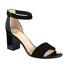 Buy Clarks Susie Deva Sandals, Black Online at johnlewis.com