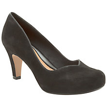 Buy Clarks Chorus Court Shoes, Black Suede Online at johnlewis.com